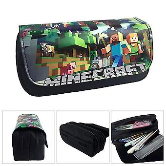 Minecraft Children's double-layer pencil case with large capacity(Color-5)