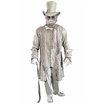 Ghostly Spirit Gentleman Ghost Soul Day of Dead Zombie Men Costume