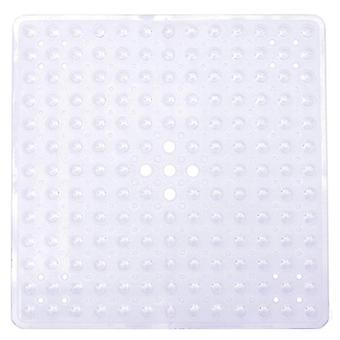 Turva liukumaton matto kylpyammetyyny imukupit kylpyhuoneen WC(53 * 53cm)(Läpinäkyvä valkoinen)