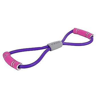 Sport- och fitness stretch motstånd loop band för träning och yoga (Rosa)