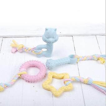 Puppy Chew Toys, 4pcs Dog Teethers With Balls And Cotton Ropes, Aggressive Chew Toys, Gift For Small Puppies And Medium Dogs (pink)