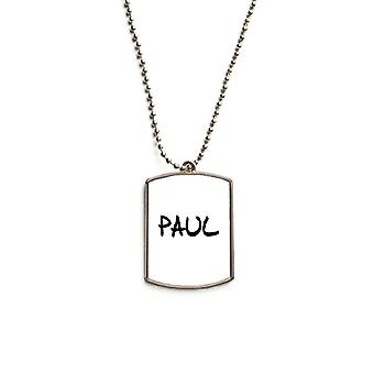 Nom anglais Paul Stainless Steel Pet Tag Pendentif