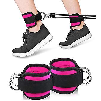 Фитнес-ремешок для лодыжки, кабельные тренажеры для тренировки ягодиц, удлинительные удлинительные ноги 2 упаковки