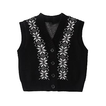 2021 Autumn New Girls Sweater Vest Sleeveless Cardigan Vest Fall Clothes For Toddler Girls  Baby Sweater Vest