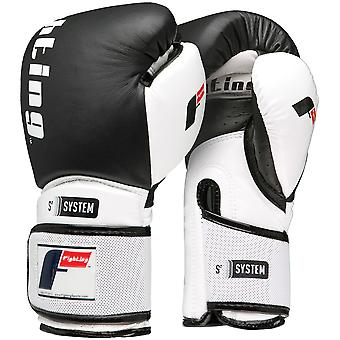 Fighting Sports S2 Gel Boxing Power Bag Gloves - Black/White