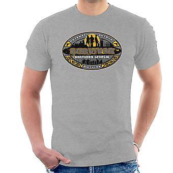 Outrun Outsmart Outlive Survivor North Georgia Walking Dead Men's T-Shirt