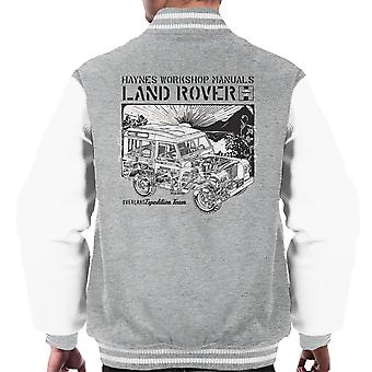 Haynes Owners Workshop Manual Land Rover Sunset Black Men's Varsity Jacket
