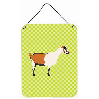 Carolines trésors BB7706DS1216 chèvre Alpine Green mur ou porte accrocher impressions
