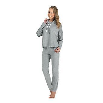 BlackSpade 6084-68 Women's Grey Pajama Sleepwear Pyjama Set