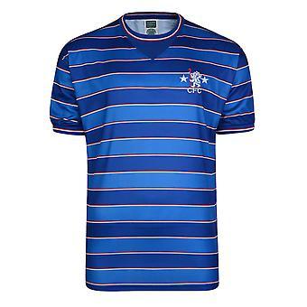 切尔西足球俱乐部男子官方足球1984年复古短袖衬衫