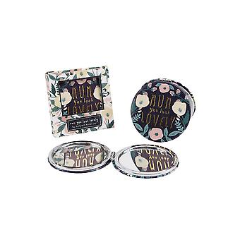 CGB Giftware Worlds Best Mum You Look Lovely Purple Compact Mirror