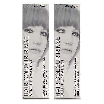 Stargazer Semi-Permanent Hair Colour Dye ROUGE (2-Pack)