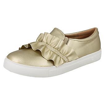 Mädchen-Spot auf Rüsche Vamp flache Schuhe H2458