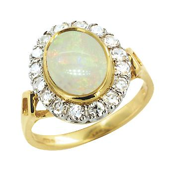 Shipton and Co Ladies Shipton And Co Exclusive 18ct Yellow Gold And Opal Ring RZ1097OP