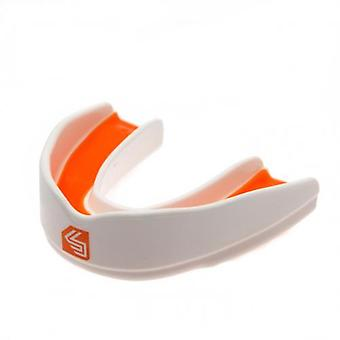 Shock Doctor Ultra Rugby Mouthguard Jeunesses-Blanc-Orange
