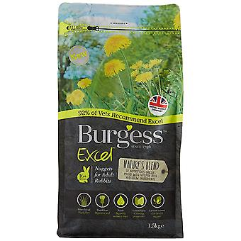 Burgess Excel Natures Blend Nuggets Rabbit Food 1.5kg