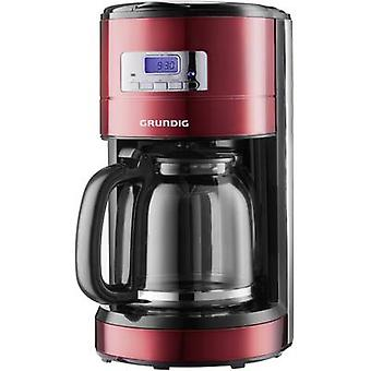 Grundig KM 6330 Coffee maker Red (metallic), Black, Stainless steel Cup volume=12 Display, Timer