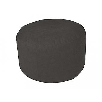 Stool cushion Pouffe Microvelour anthracite with filling 34 x 47 x 47