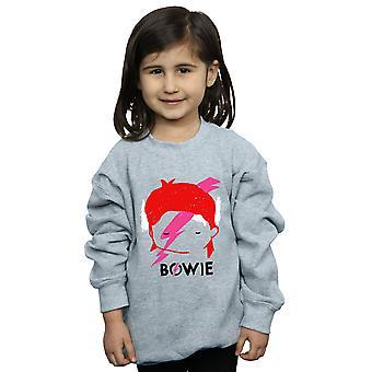 David Bowie flickor Lightning Bolt skiss Sweatshirt