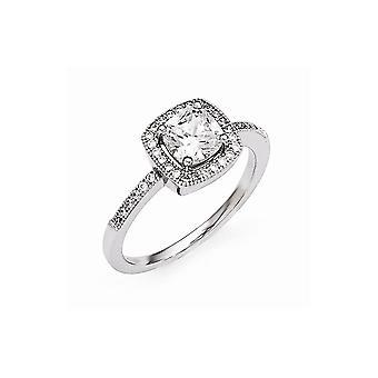925 plata de ley pave rhodium plateado y CZ Cubic Zirconia simulado diamante brillante ascuas anillo joyería regalos para