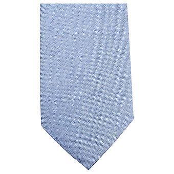 Knightsbridge Neckwear plaine tissé Tie - bleu clair