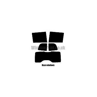 事前カット ウィンドウ色合い - フィアット Doblo MPV - 2010 と新しい - 後部窓