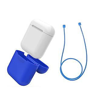 Airpod Silicone case + headphone Straps & wrist Strap Apple BLUE