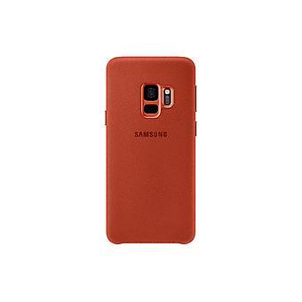 Samsung Galaxy S9 Alcantara Cover-punainen