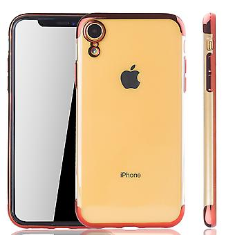 Handyhülle für Apple iPhone XR Rot - Clear - TPU Silikon Case Backcover Schutzhülle in Transparent   Rot