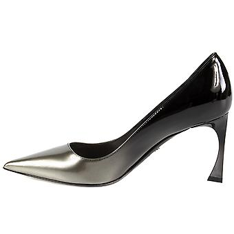 Dior Graded Patent Calfskin Pump | 8cm Heel | Grey and Black
