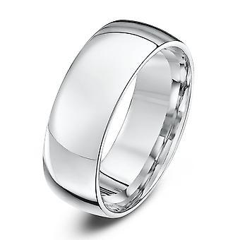 Anneaux de mariage étoile platine lumière Cour forme 7mm bague de mariage