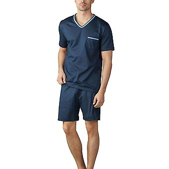 Mey 18871-668 Men's Uni Basic Yacht Blue Striped Pyjama Set