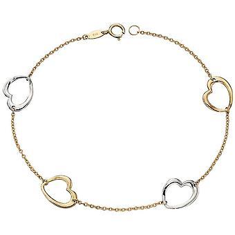 Elements Gold Heart Bracelet - Gold/Silver