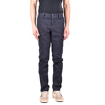 Incotex Ezbc093037 Men's Blue Cotton Pants