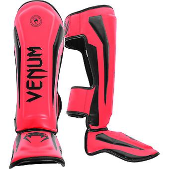 Venum Elite Standup MMA Shinguards with Instep - Neo Pink