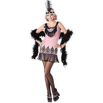 Womens Teen 20s Flirty Flapper Gatsby Moll Fancy Dress Costume