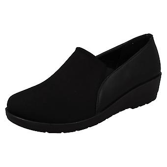 Ladies Eaze Mid Wedge Casual Shoes F90065