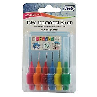 Tepe Interdentalbürste gemischt Pack 6