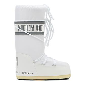 Moon Boot Classic Icon Womens White Nylon Boots