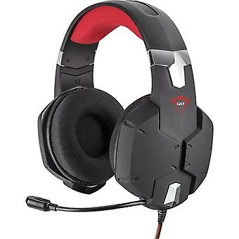 Vertrouwen GXT322 Dynamic Headset Gaming headset 3,5 mm jack Bedraad over-the-ear Zwart, Rood