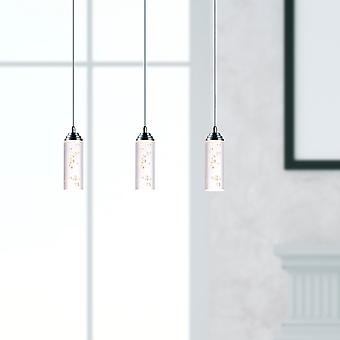 Industrial Chandelier Ceiling Pendant 3 Light Led Hanging Lamp Rectangular Canopy