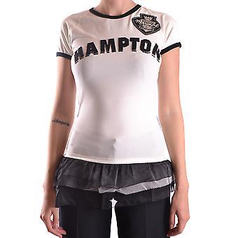 Frankie Morello Ezbc167054 Women's White/black Cotton T-shirt