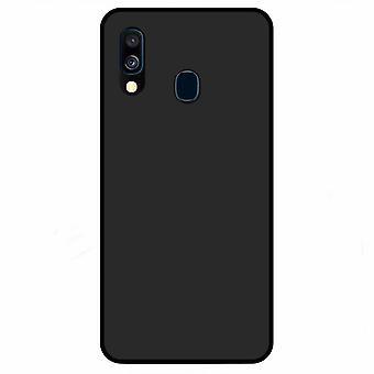 Pehmeä TPU kuori Samsung Galaxy A40 musta