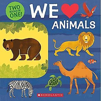 Vi älskar djur: två böcker i ett!