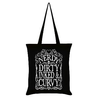 Grindstore nerdy Dirty Inked y curvy Tote Bag