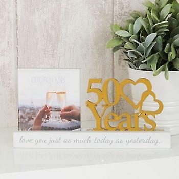 Golden Wedding Anniversary Photo Frame | Gifts From Handpicked