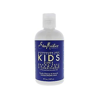 Shea Moisture Marshmallow Root & Blueberries Kids 2-in-1 Drama Free Shampoo & Conditioner 236ml