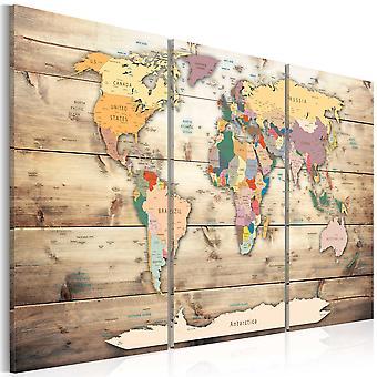 Schilderij - Map of Dreams
