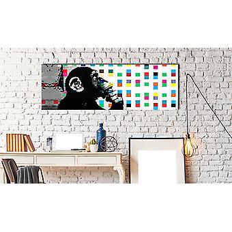 Maalaus - Inspired Banksy: Ajattelija Monkey135x45