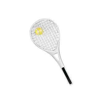 Eternal Collection Anyone For Tennis Yellow Enamel Silver Tone Brooch